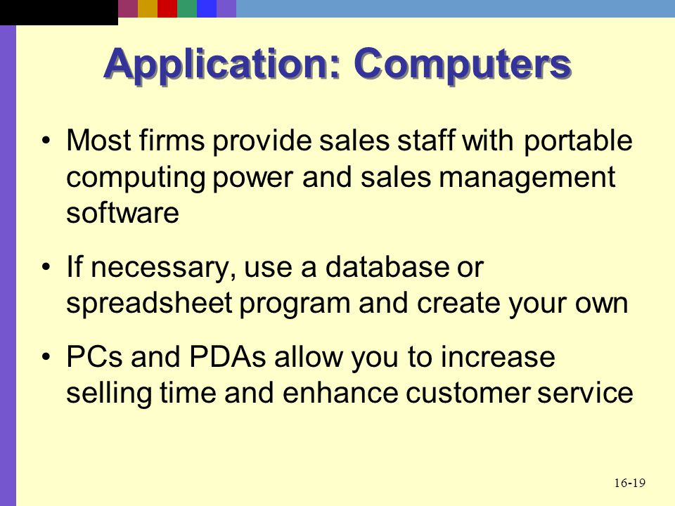Application: Computers