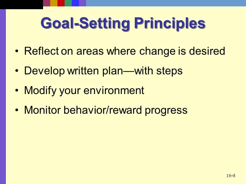 Goal-Setting Principles