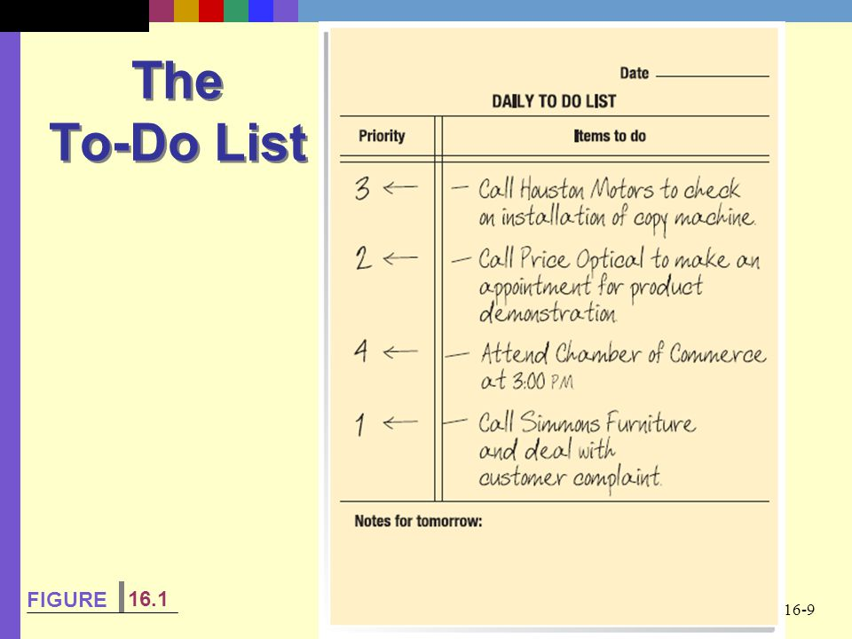The To-Do List FIGURE 16.1