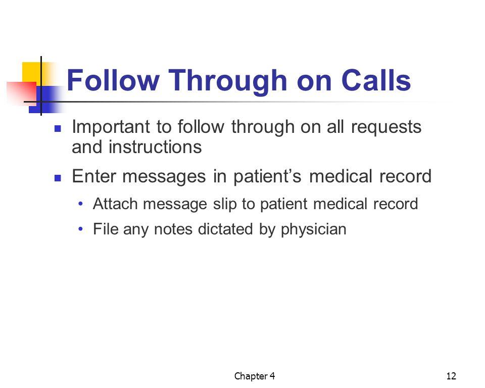 Follow Through on Calls