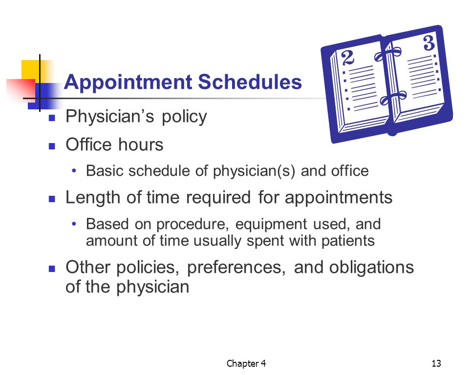 Appointment Schedules