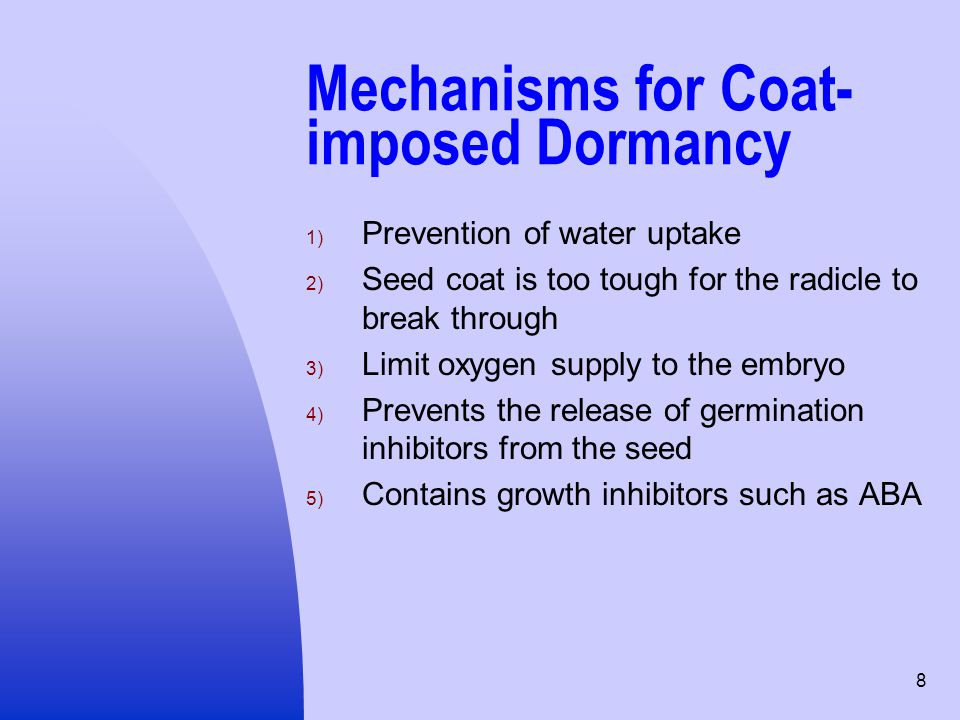 Mechanisms for Coat-imposed Dormancy