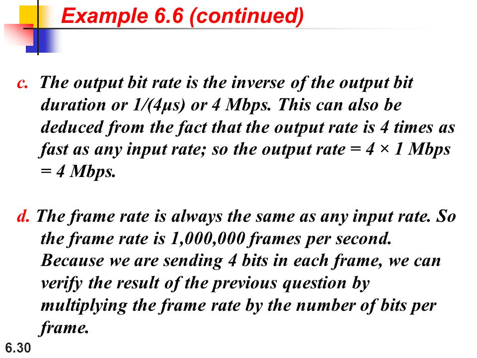 Example 6.6 (continued)
