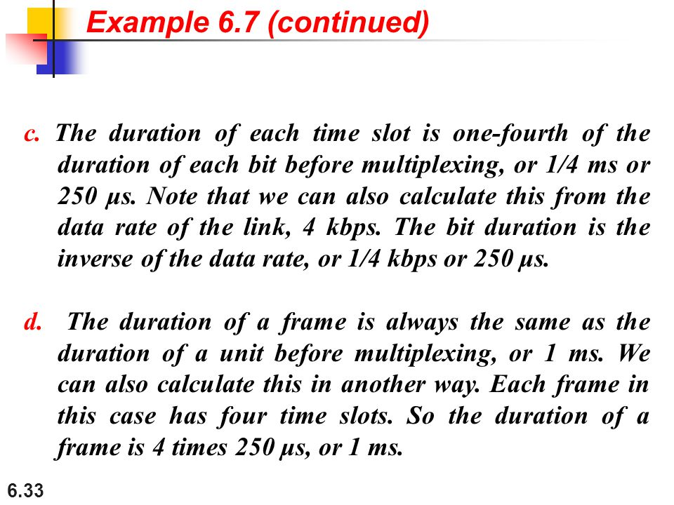 Example 6.7 (continued)
