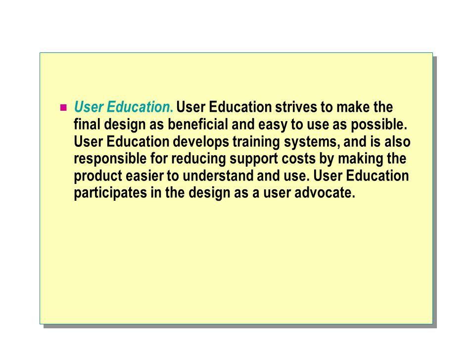 User Education.