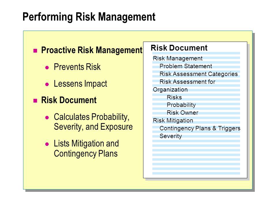 Performing Risk Management