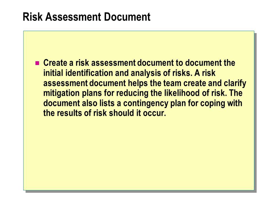 Risk Assessment Document