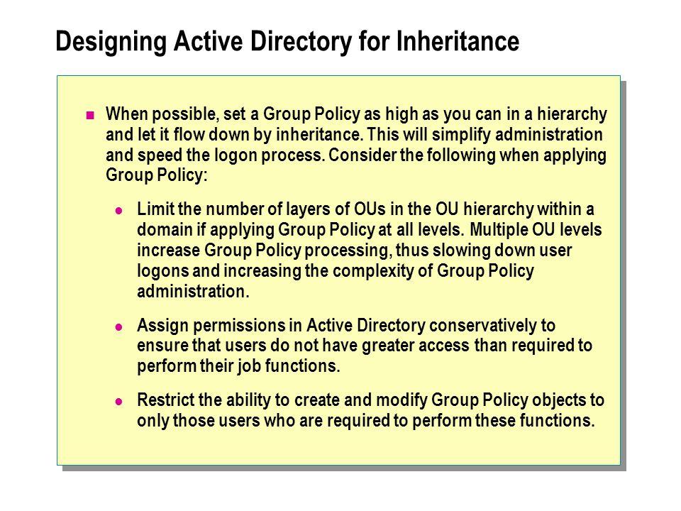 Designing Active Directory for Inheritance