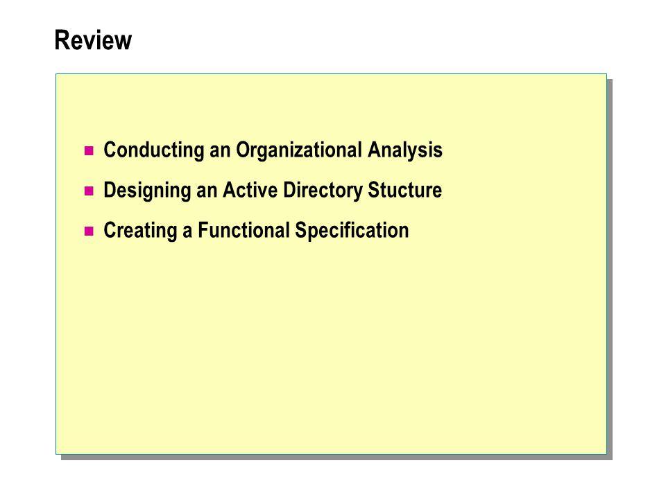 Review Conducting an Organizational Analysis