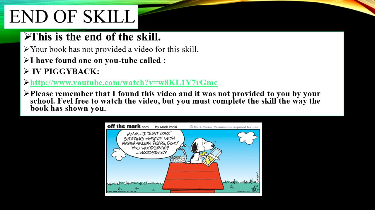 END OF SKILL This is the end of the skill.