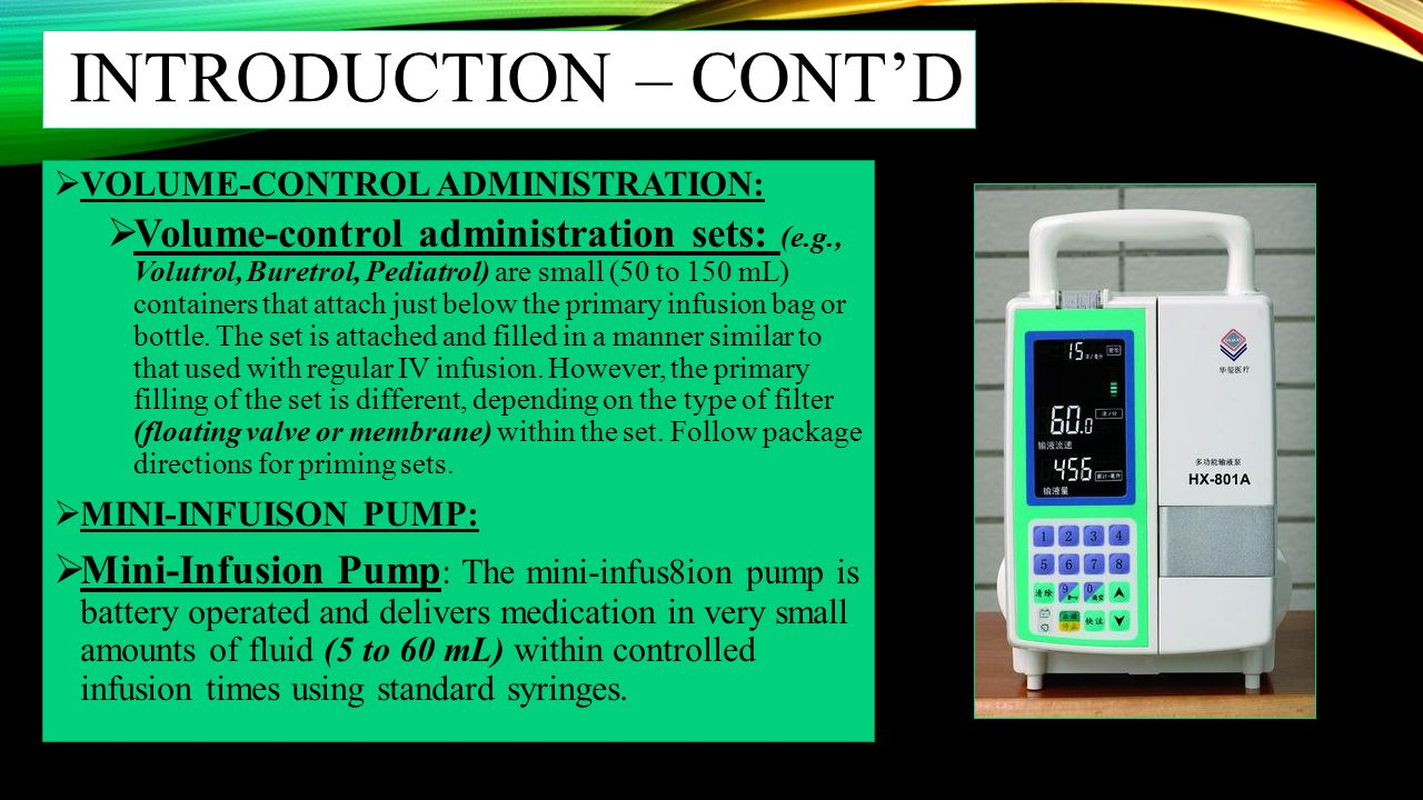 INTRODUCTION – CONT'D VOLUME-CONTROL ADMINISTRATION: