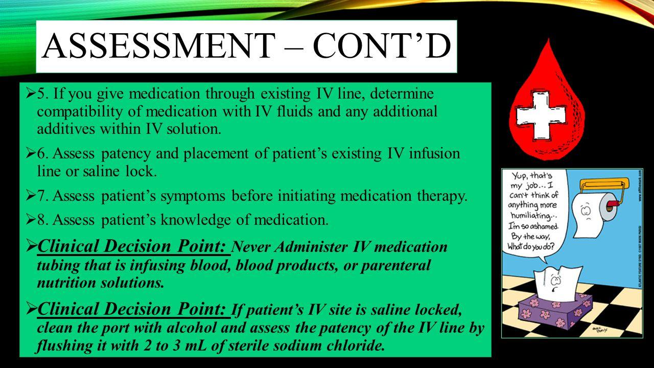 Assessment – cont'd