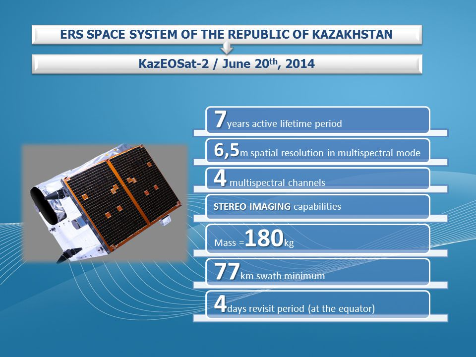 ERS SPACE SYSTEM OF THE REPUBLIC OF KAZAKHSTAN