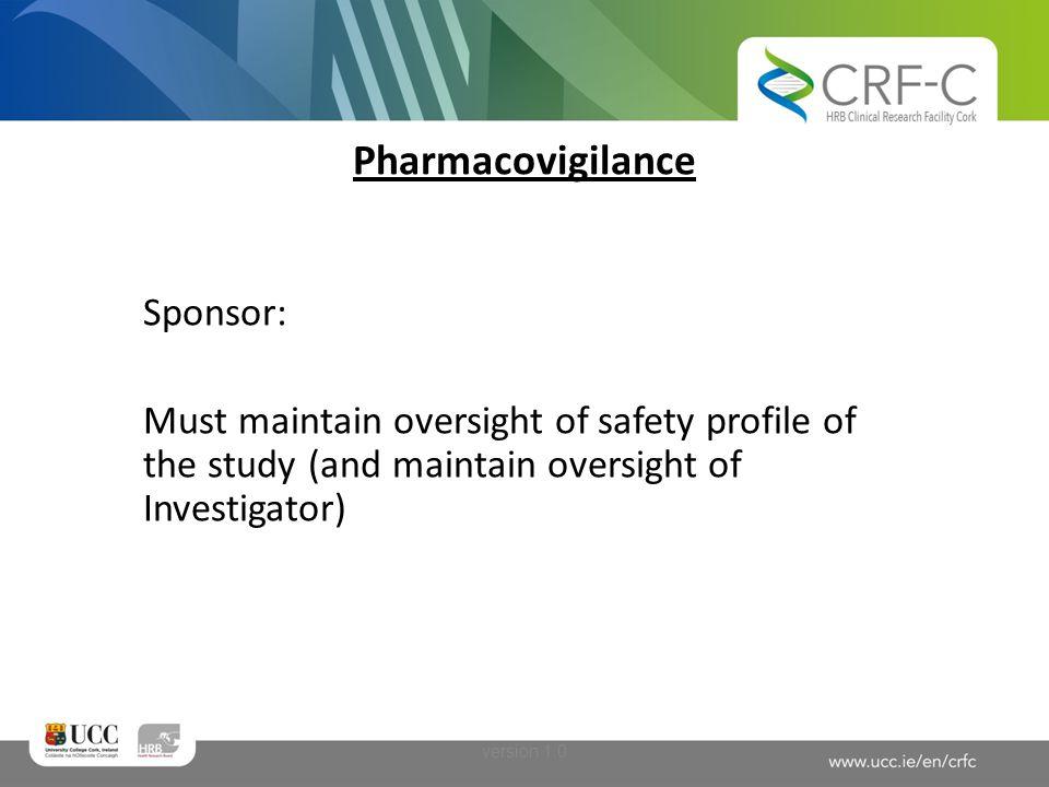Pharmacovigilance Sponsor: