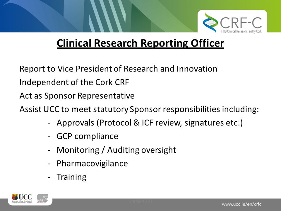 Clinical Research Reporting Officer