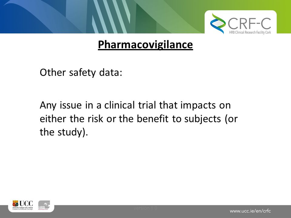 Pharmacovigilance Other safety data: