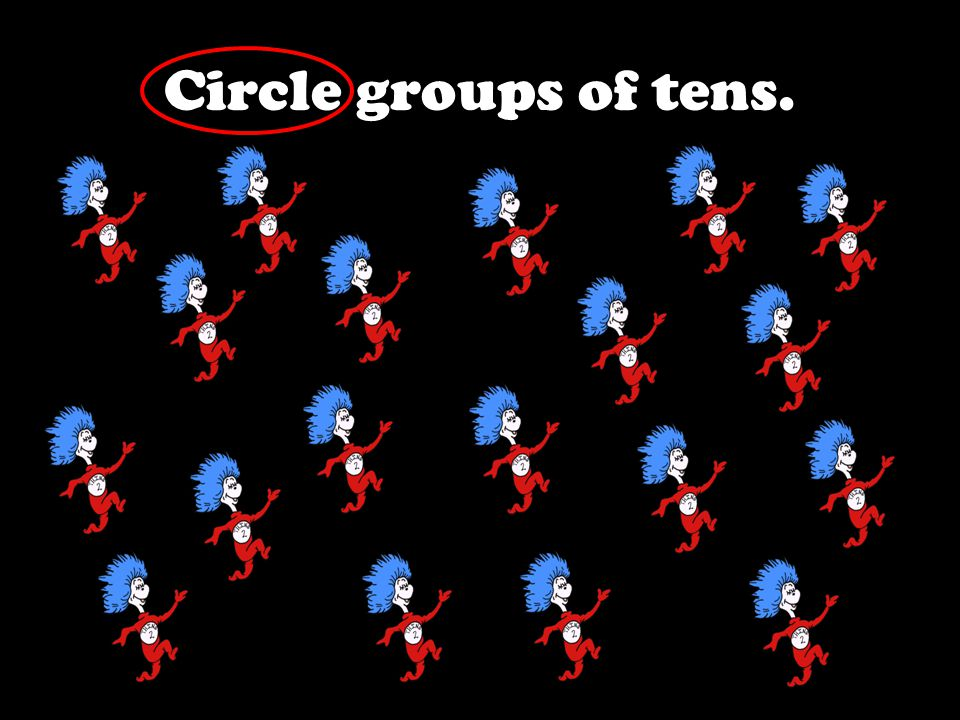 Circle groups of tens.