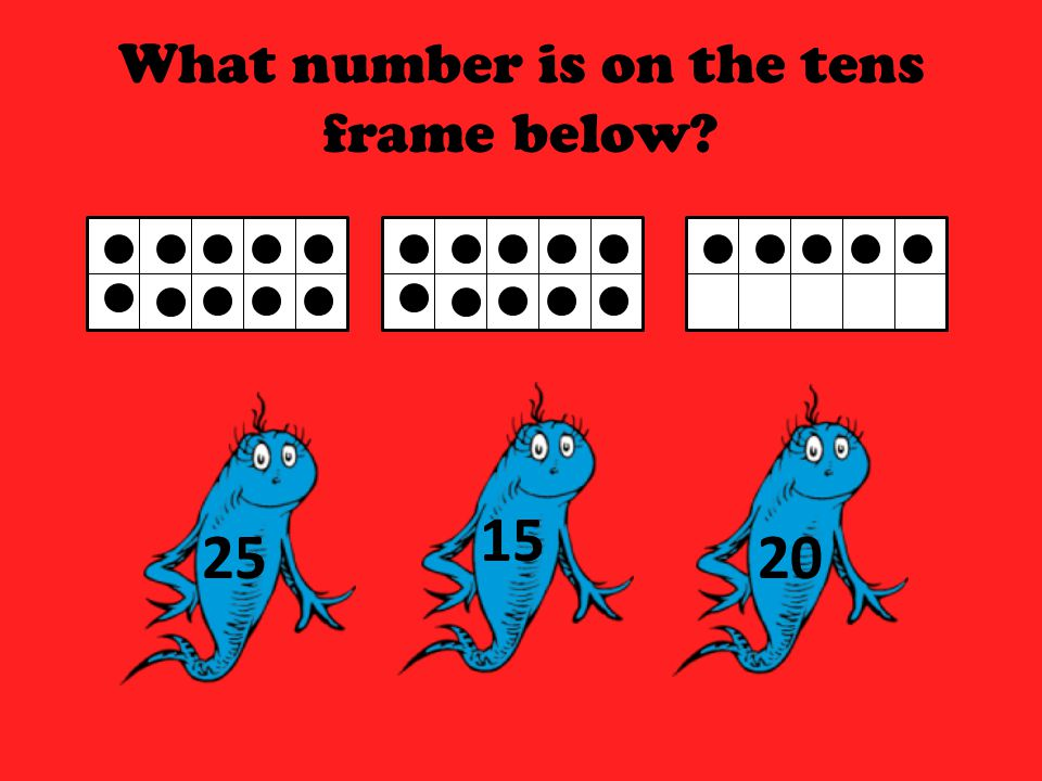 What number is on the tens frame below