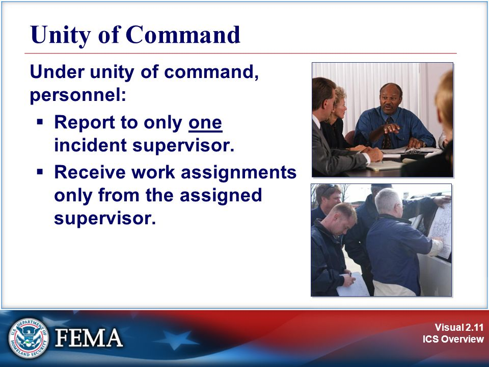 Unity of Command Under unity of command, personnel: