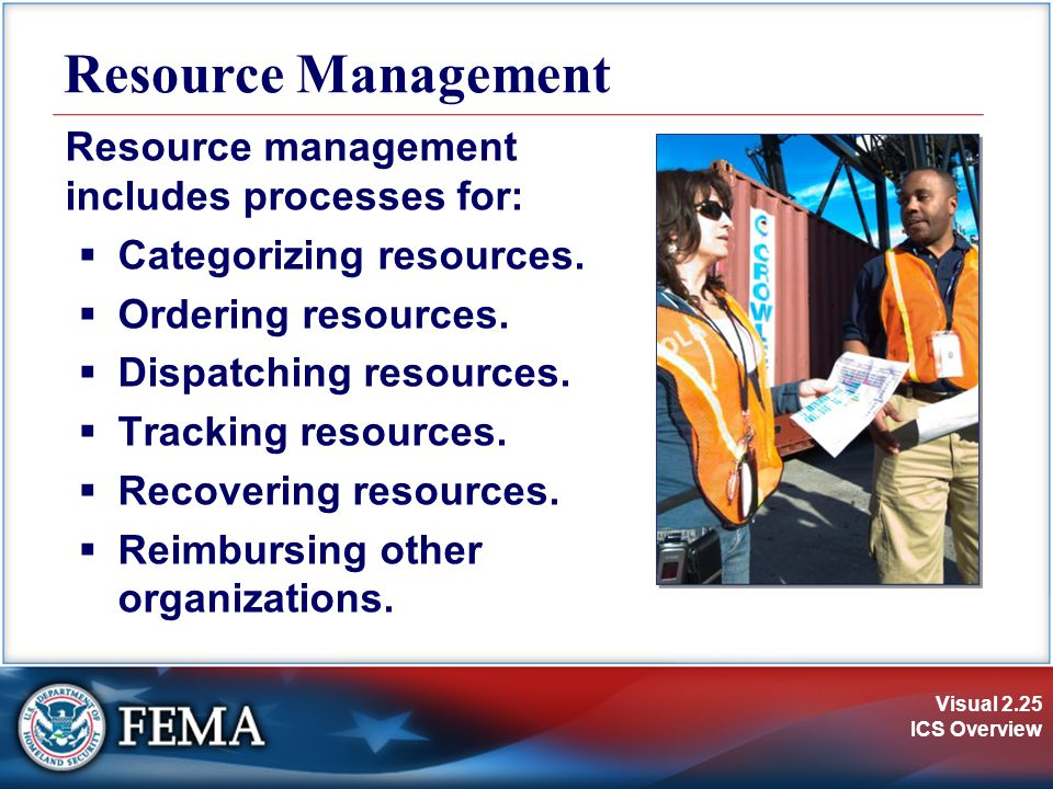 Resource Management Resource management includes processes for: