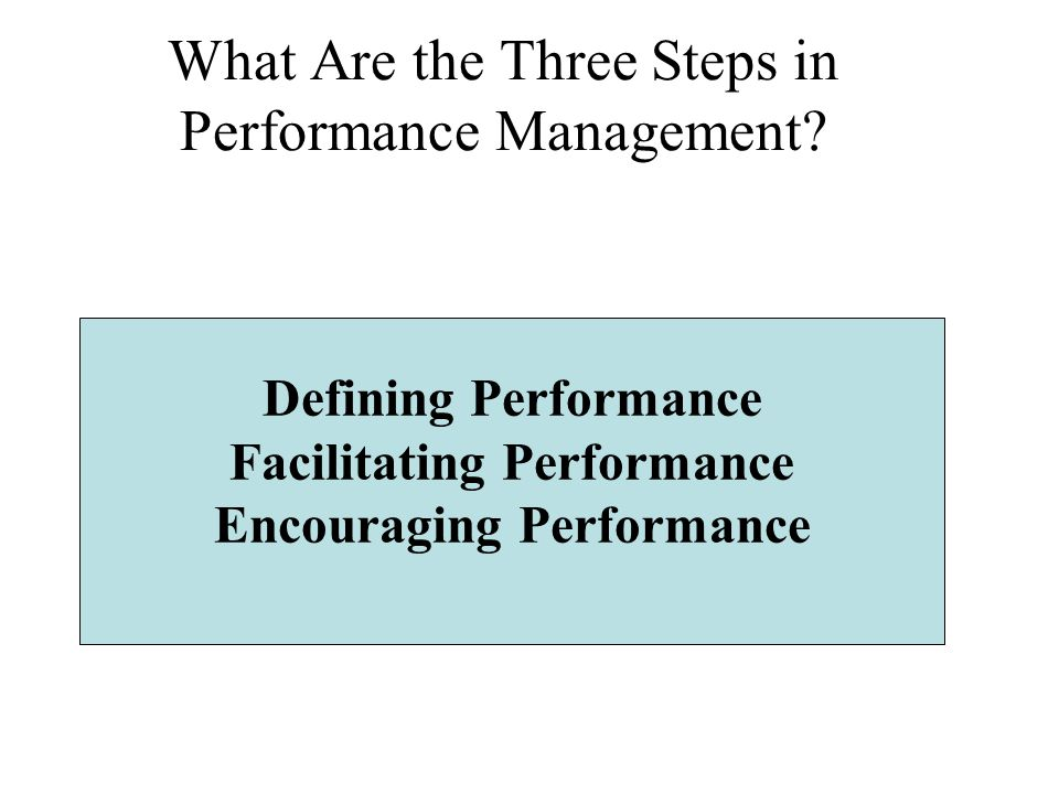 What Are the Three Steps in Performance Management