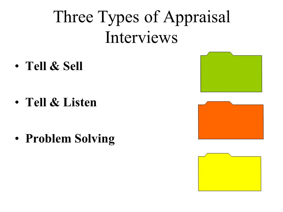 Three Types of Appraisal Interviews