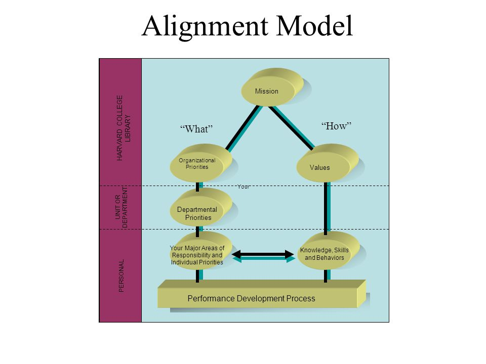 Alignment Model How What Performance Development Process Mission