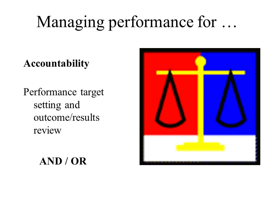 Managing performance for …