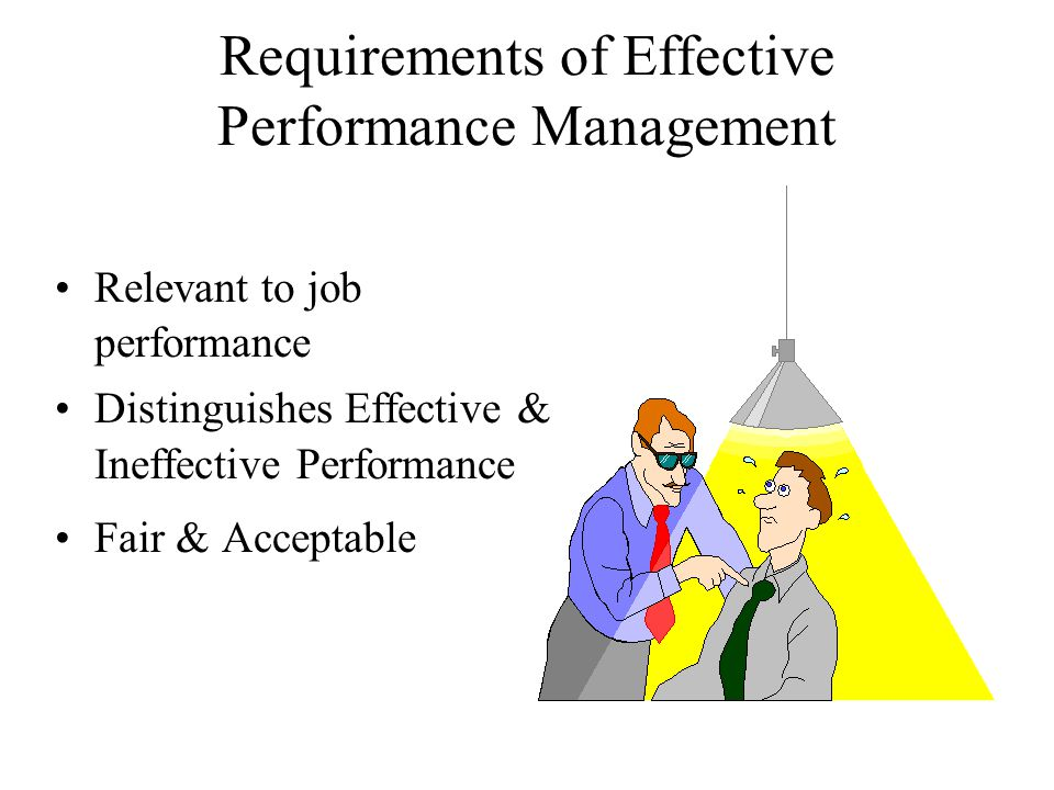 Requirements of Effective Performance Management