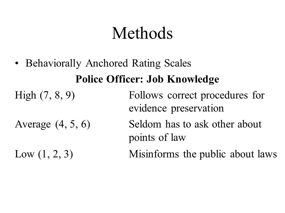 Police Officer: Job Knowledge