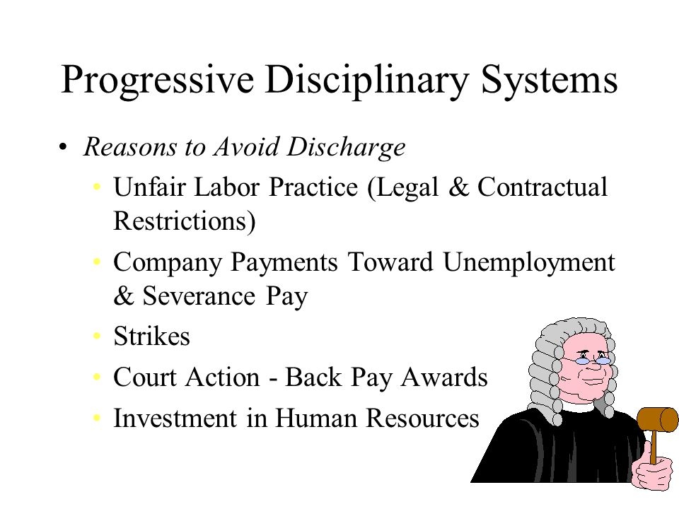 Progressive Disciplinary Systems