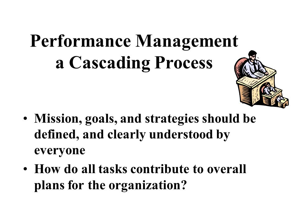 Performance Management a Cascading Process