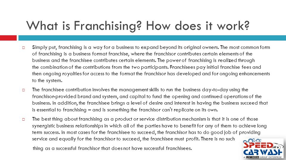 What is Franchising How does it work