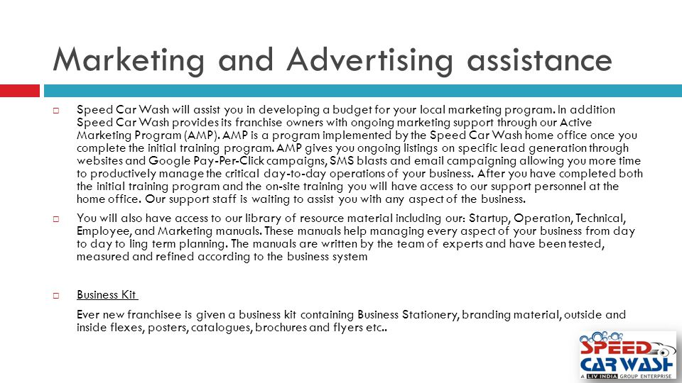 Marketing and Advertising assistance