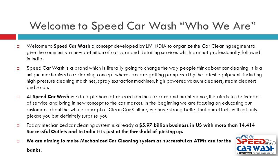 Welcome to Speed Car Wash Who We Are