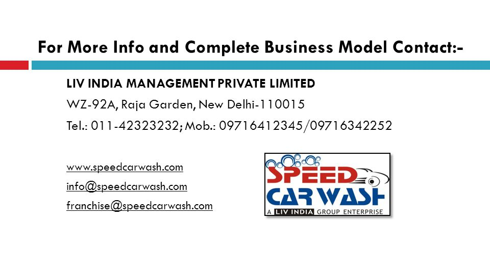 For More Info and Complete Business Model Contact:-