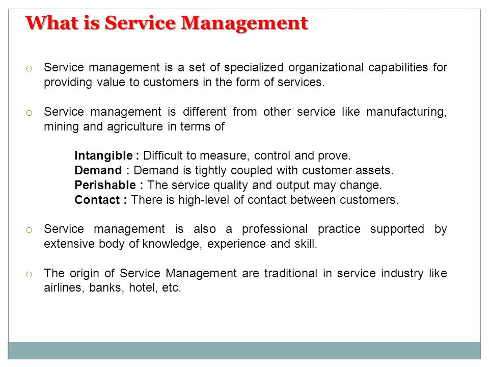 What is Service Management