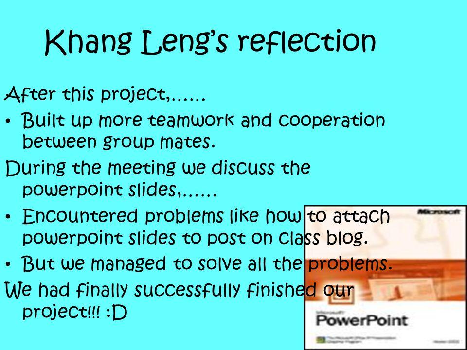 Khang Leng's reflection