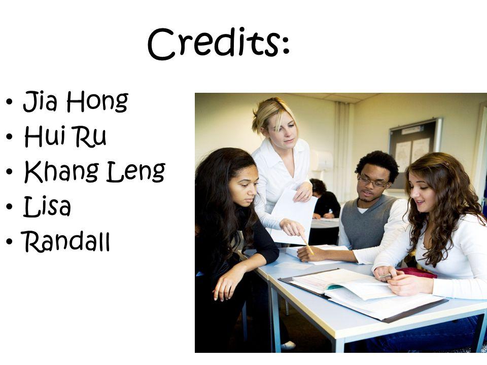Credits: Jia Hong Hui Ru Khang Leng Lisa Randall