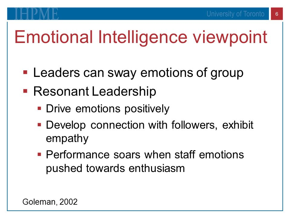 Emotional Intelligence viewpoint