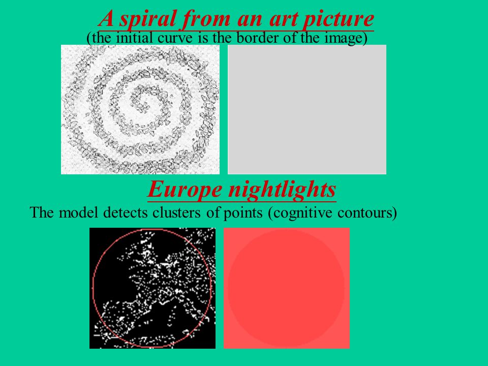 Europe nightlights A spiral from an art picture