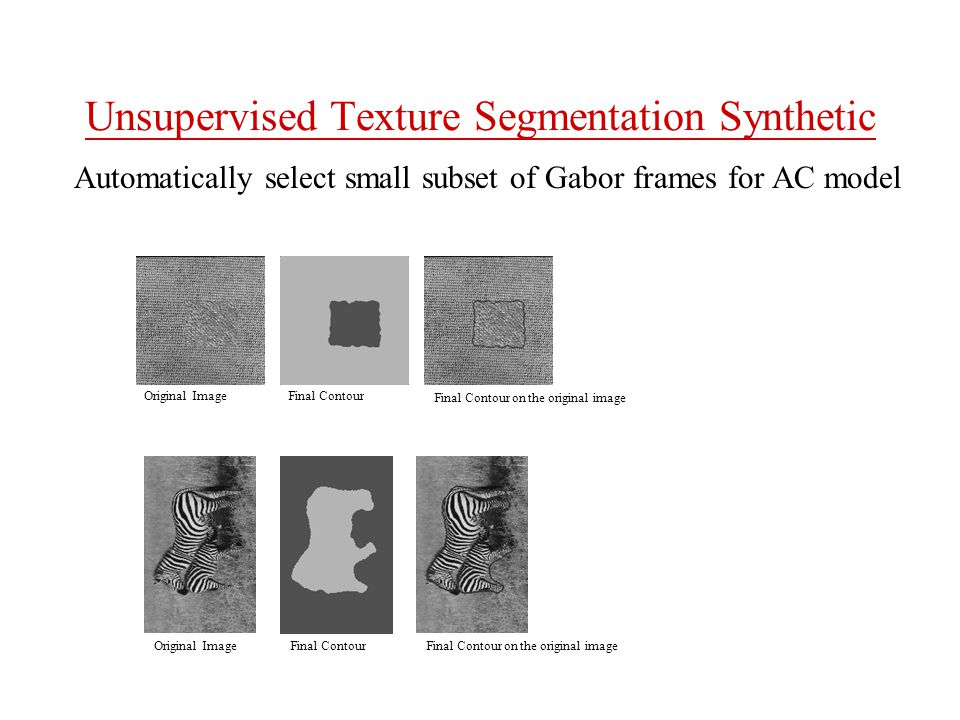Unsupervised Texture Segmentation Synthetic