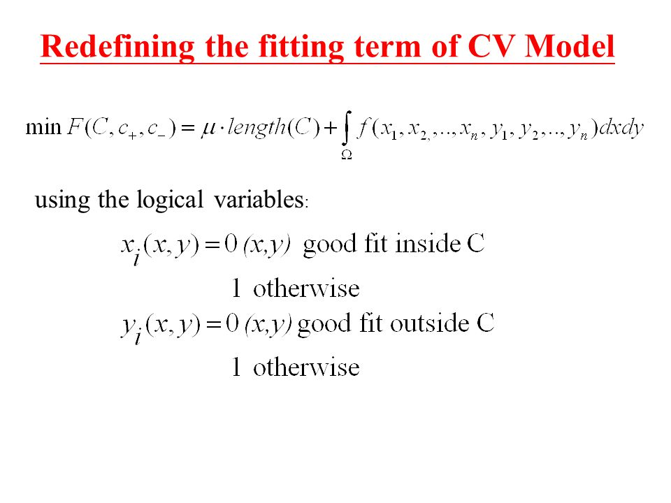 Redefining the fitting term of CV Model