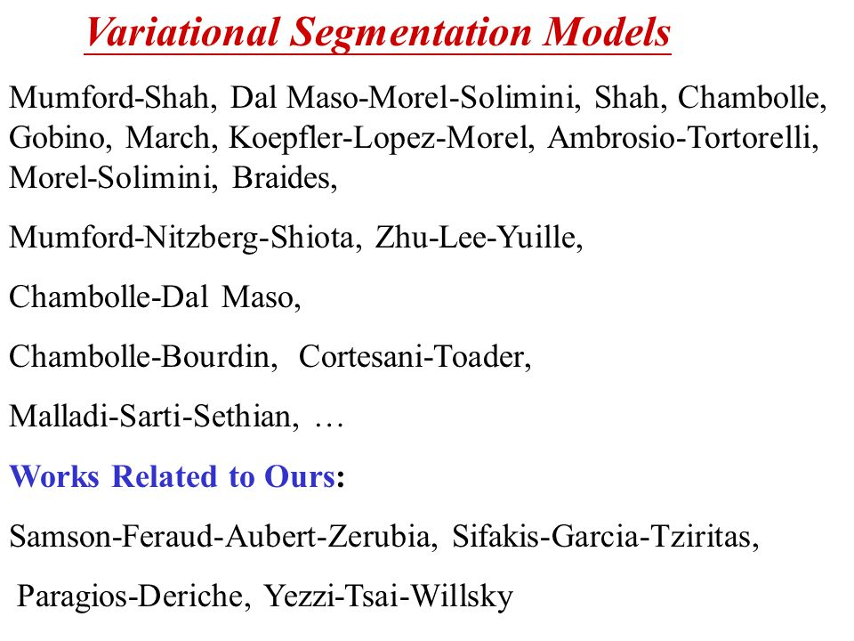 Variational Segmentation Models
