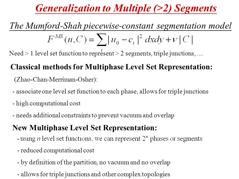 Generalization to Multiple (>2) Segments
