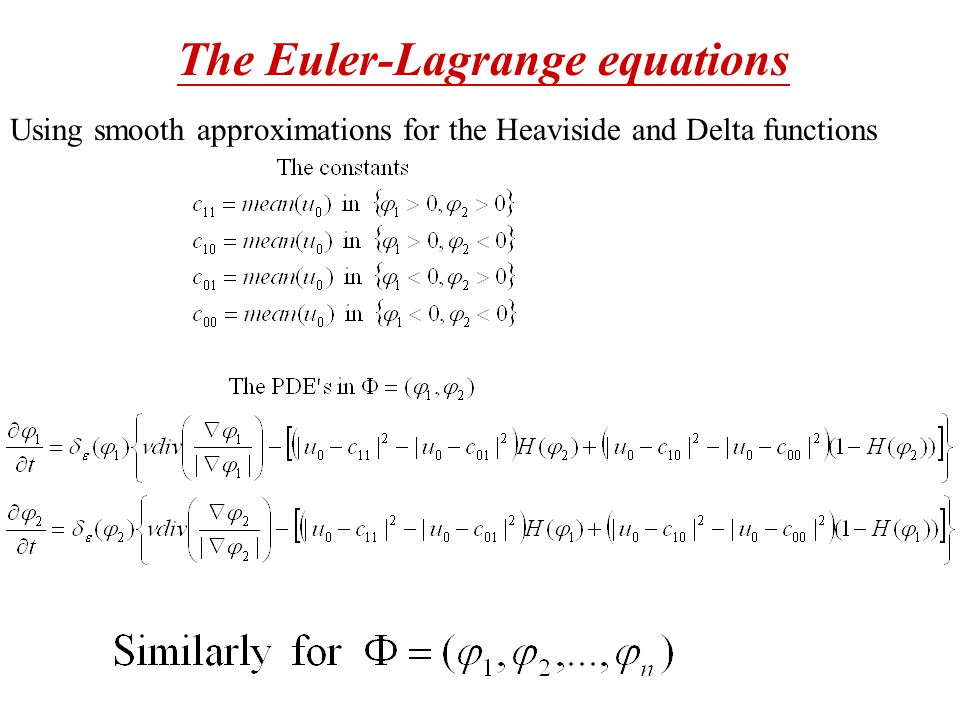 Using smooth approximations for the Heaviside and Delta functions