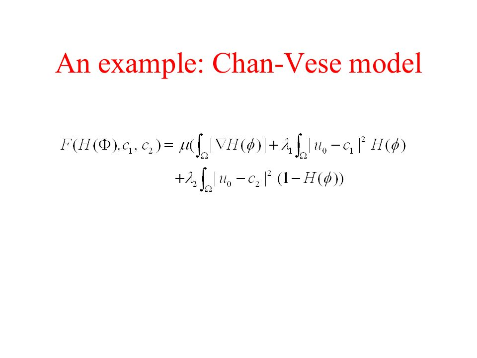An example: Chan-Vese model