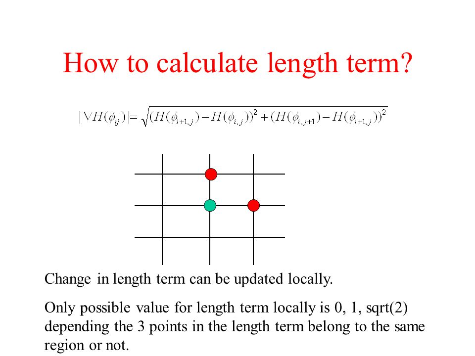 How to calculate length term