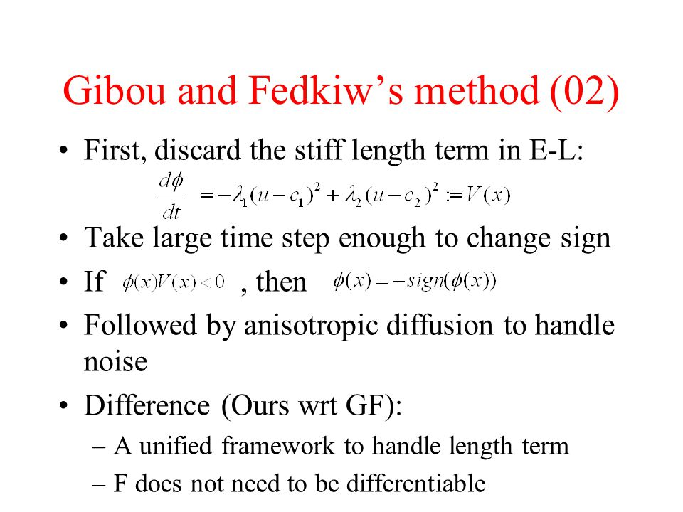 Gibou and Fedkiw's method (02)
