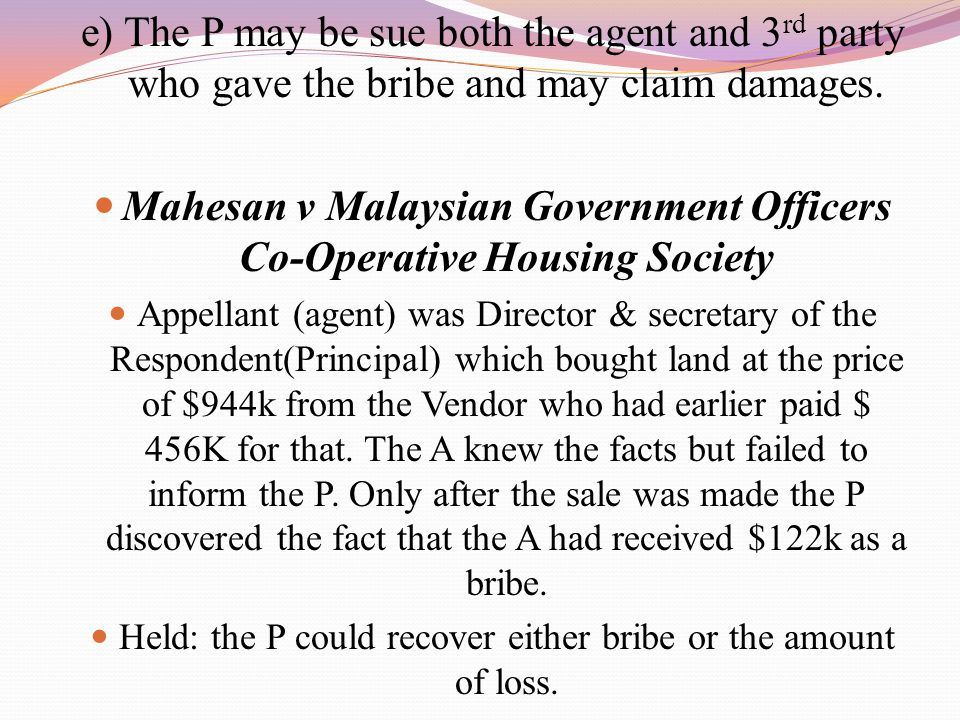 Mahesan v Malaysian Government Officers Co-Operative Housing Society